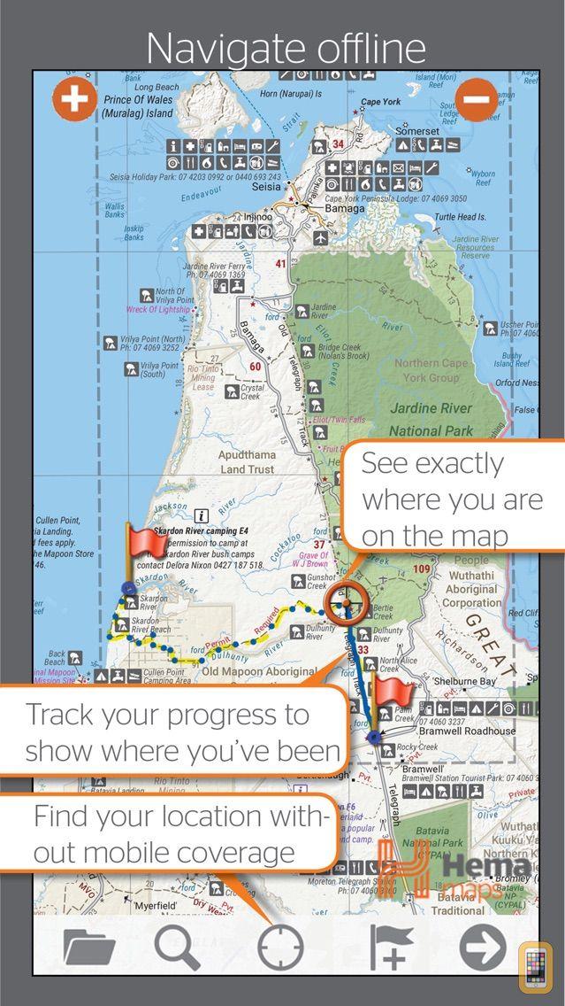 4wd Map Of Australia.4wd Maps Hema Australia Offline Topo Maps For Iphone Ipad App