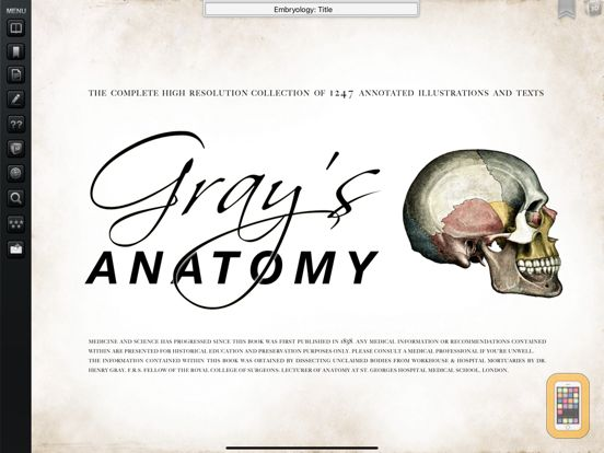 Screenshot - Gray's Anatomy Premium for iPad