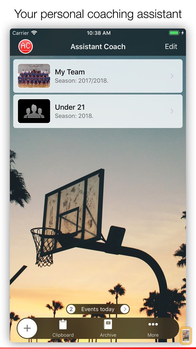 Screenshot - Assistant Coach