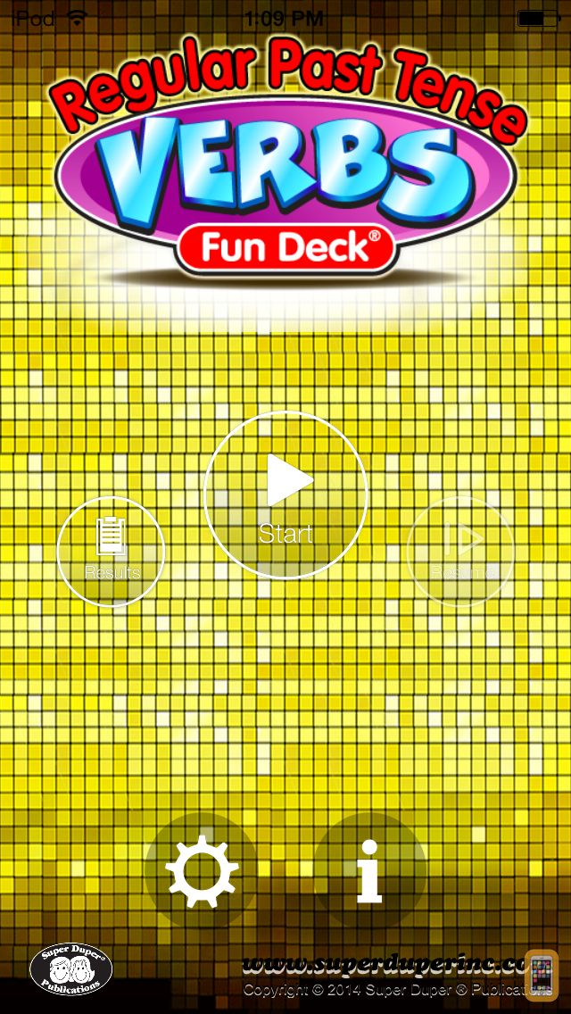 Screenshot - Regular Past Tense Verbs Fun Deck