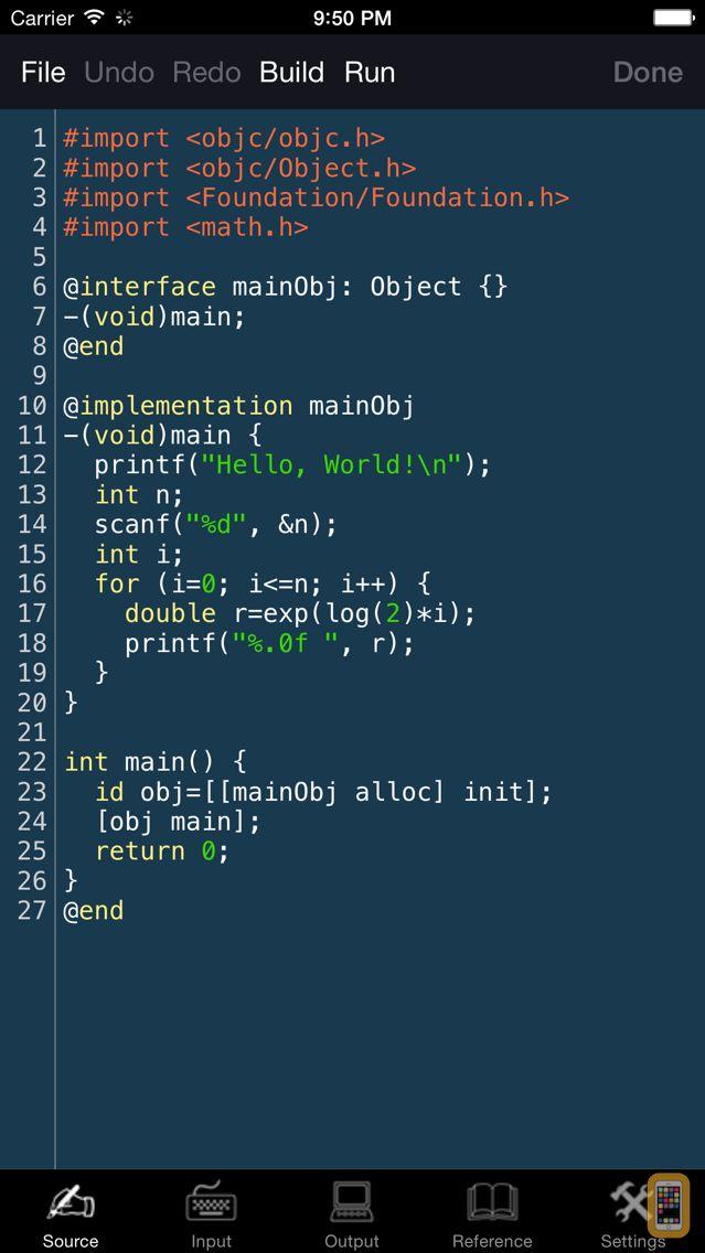 Screenshot - Obj-C Programming Language