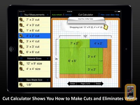 Screenshot - Cut Calculator