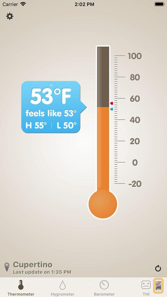 Screenshot - Thermo-hygrometer