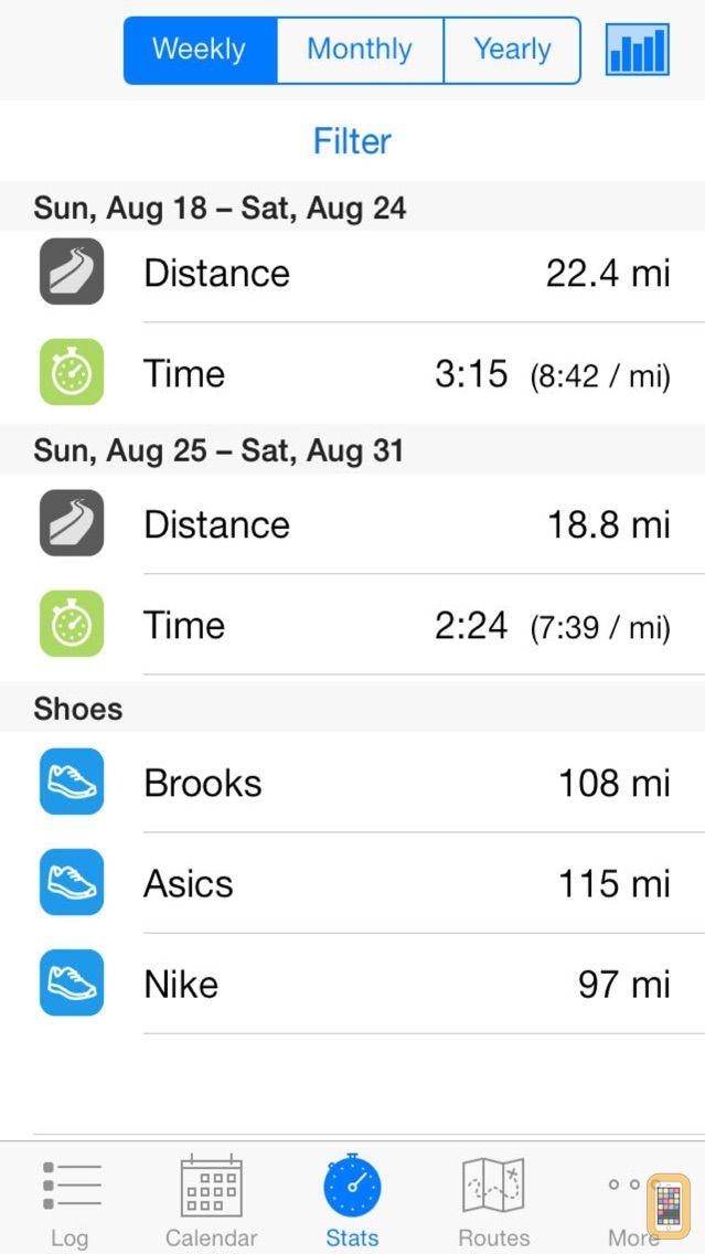 Screenshot - Runner's Log