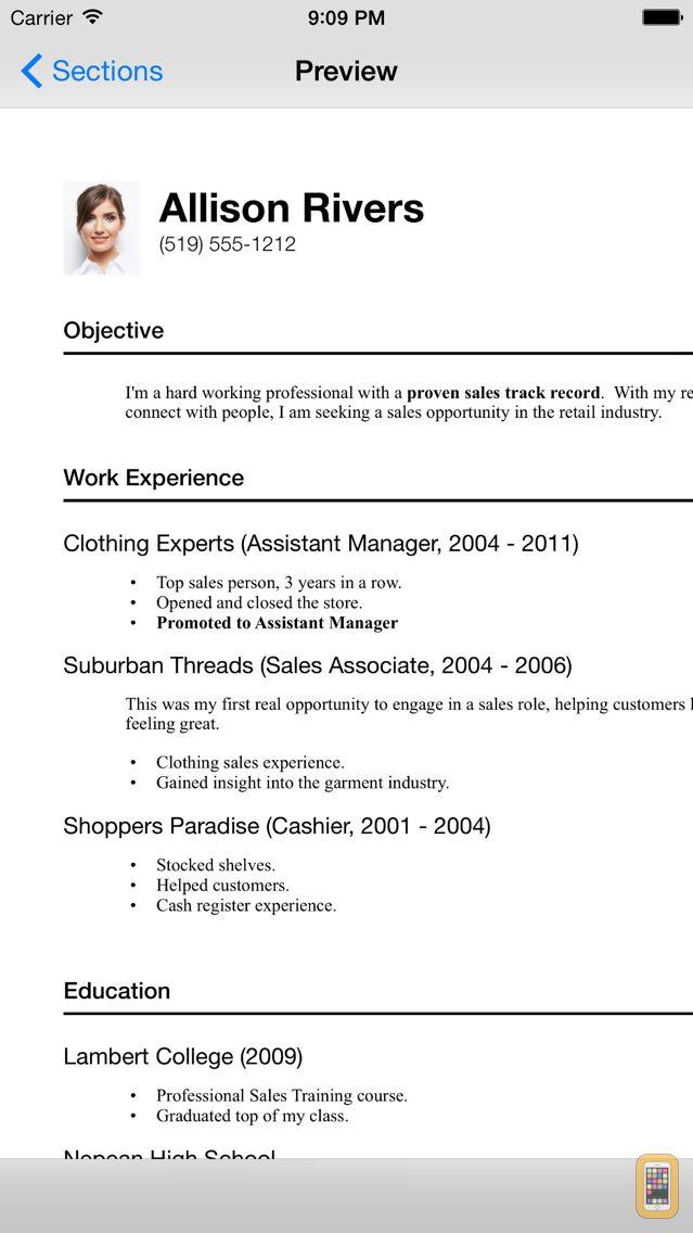 Screenshot - Resume Designer 3