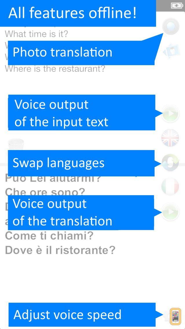 Screenshot - Translate Offline: Italian Pro