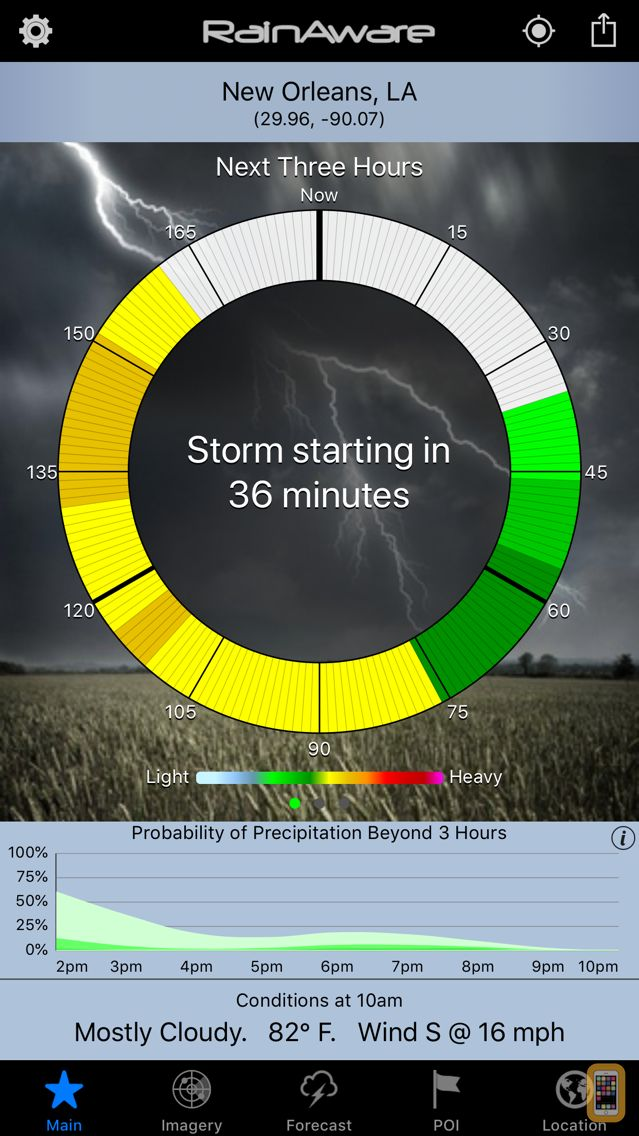 Screenshot - RainAware Weather Timer