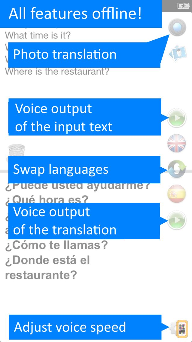 Screenshot - Offline Translator Spanish Pro