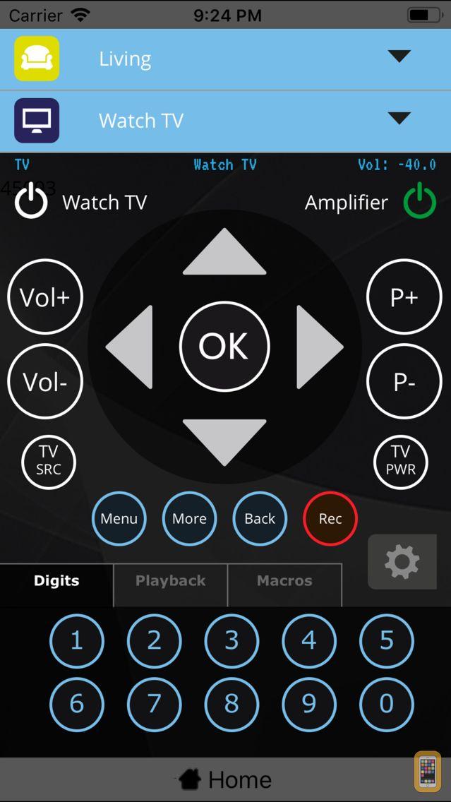 Screenshot - MyURemote Universal Remote App