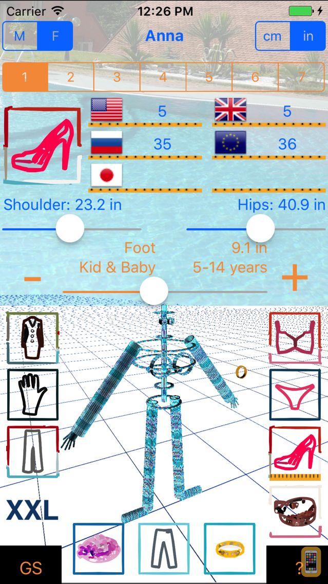 Screenshot - Good Sizer 3D - size converter of clothes