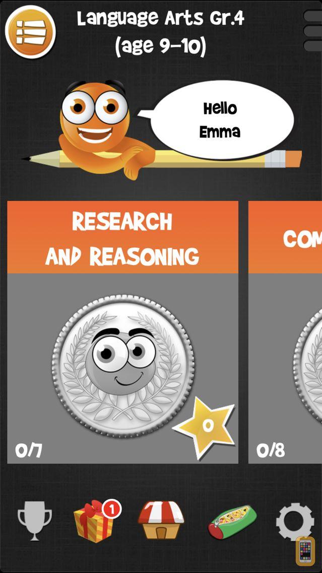 Screenshot - iTooch 4th Grade   Math, Language Arts, and Science