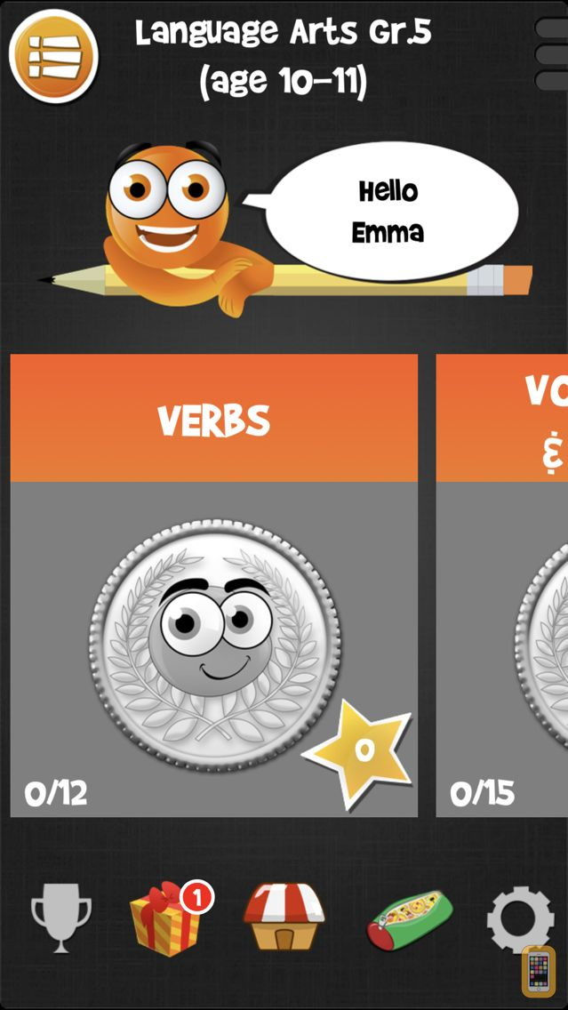 Screenshot - iTooch 5th Grade App | Math, Language Arts and Science
