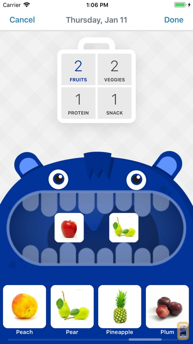 Screenshot - LaLa Lunchbox - Fun lunch planning for parents and kids