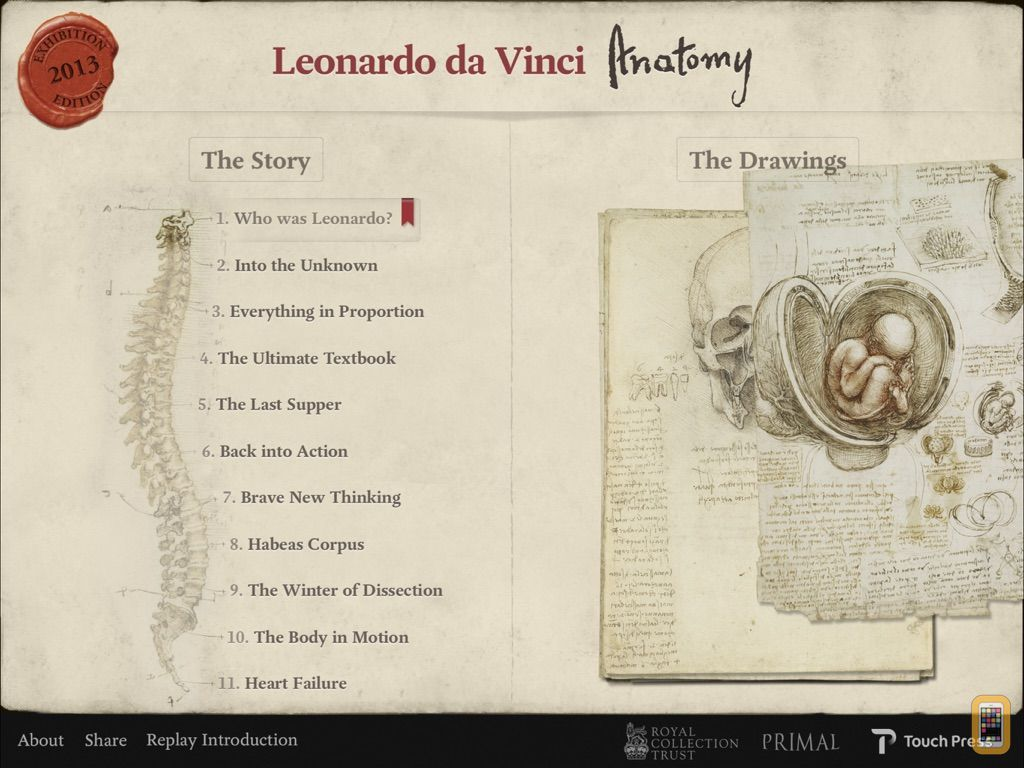 Screenshot - Leonardo da Vinci: Anatomy
