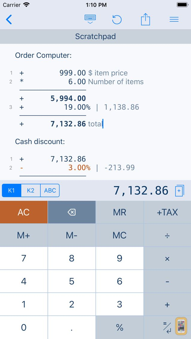 Screenshot - CalcTape Paper Tape Calculator