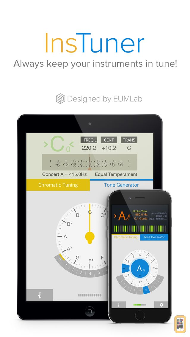 Screenshot - insTuner - Chromatic Tuner with Tone Generator