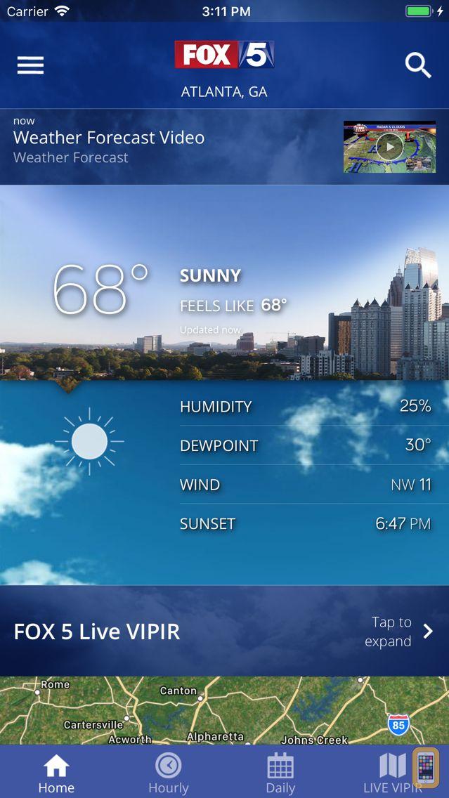 Screenshot - FOX 5 Storm Team Weather Radar