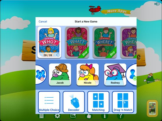 Screenshot - WH Question Cards - Pro: Who, What, When, Where, Why