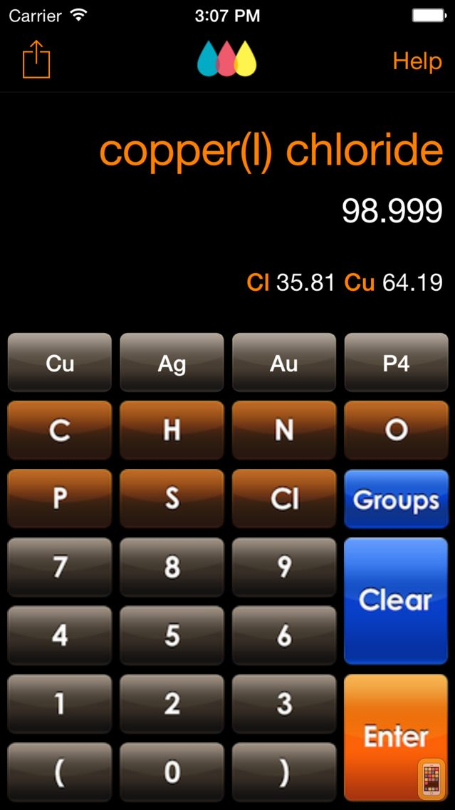 Screenshot - ChemTrix Chemistry Calculator