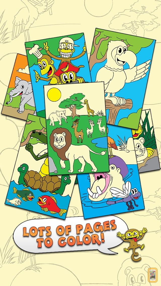 Screenshot - Coloring Animal Zoo Touch To Color Activity Coloring Book For Kids and Family Preschool Ultimate Edition