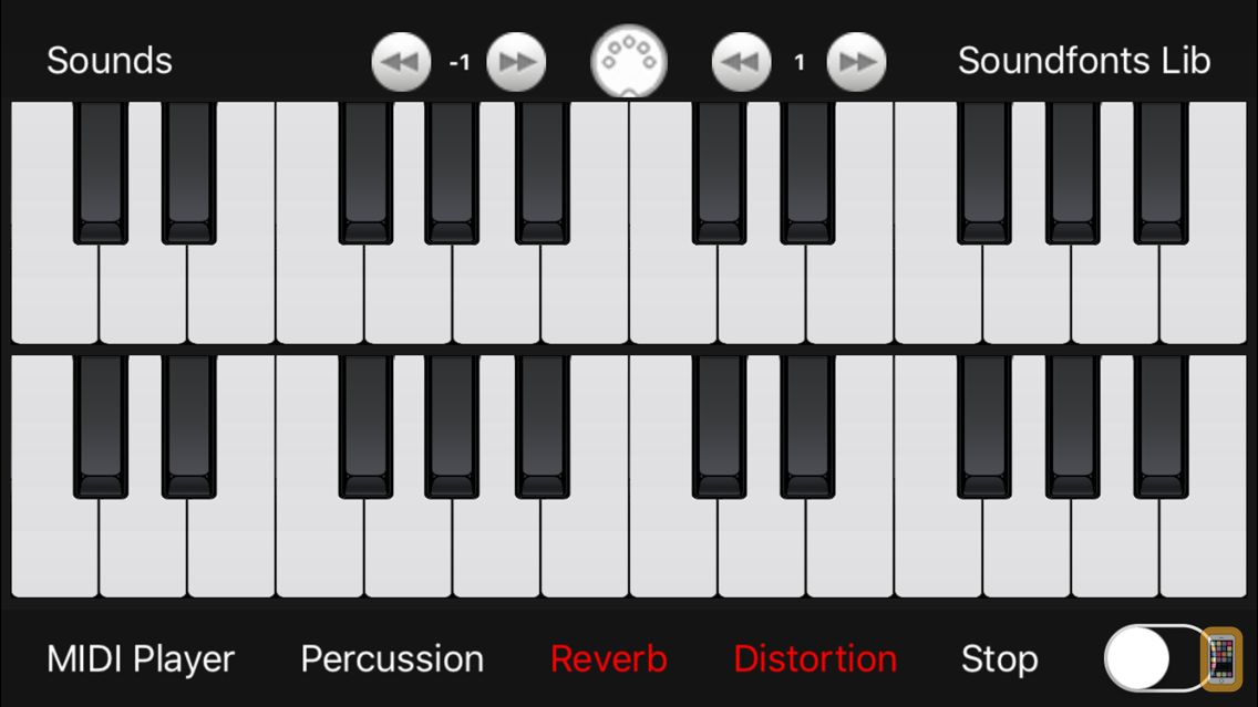 Screenshot - midi Keyboard