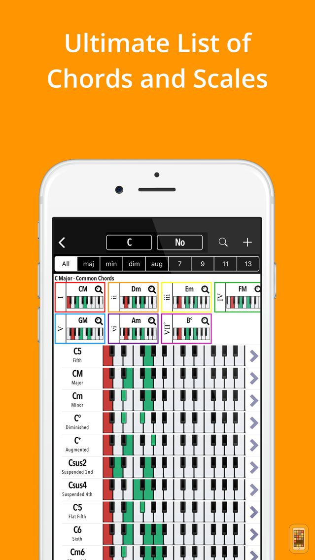 Screenshot - Piano Companion PRO: chords