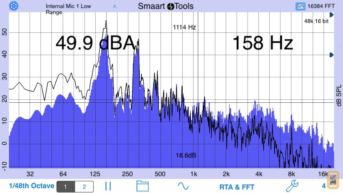 Screenshot - SmaartTools Single Channel RTA