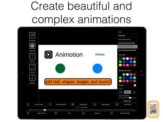 Screenshot - Animotion - Create animations