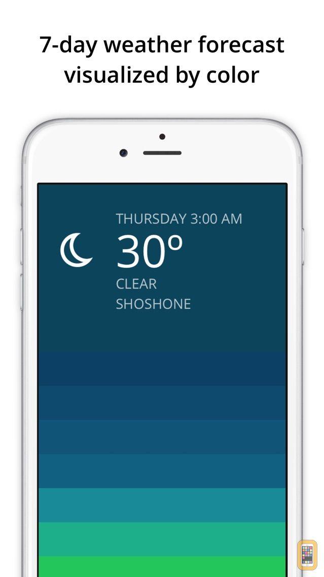 Screenshot - Blue - weather forecast