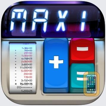 MaxiCalc Pro: Big Retro LCD Paper Tape Calculator by Fernando Sciessere (iPad)
