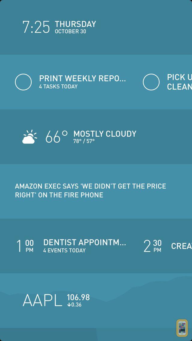 Screenshot - Morning — Weather, To-Do, News
