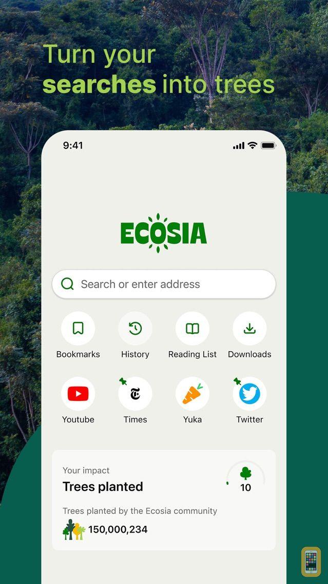 Screenshot - Ecosia