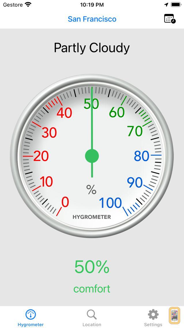 Screenshot - Hygrometer - Check humidity
