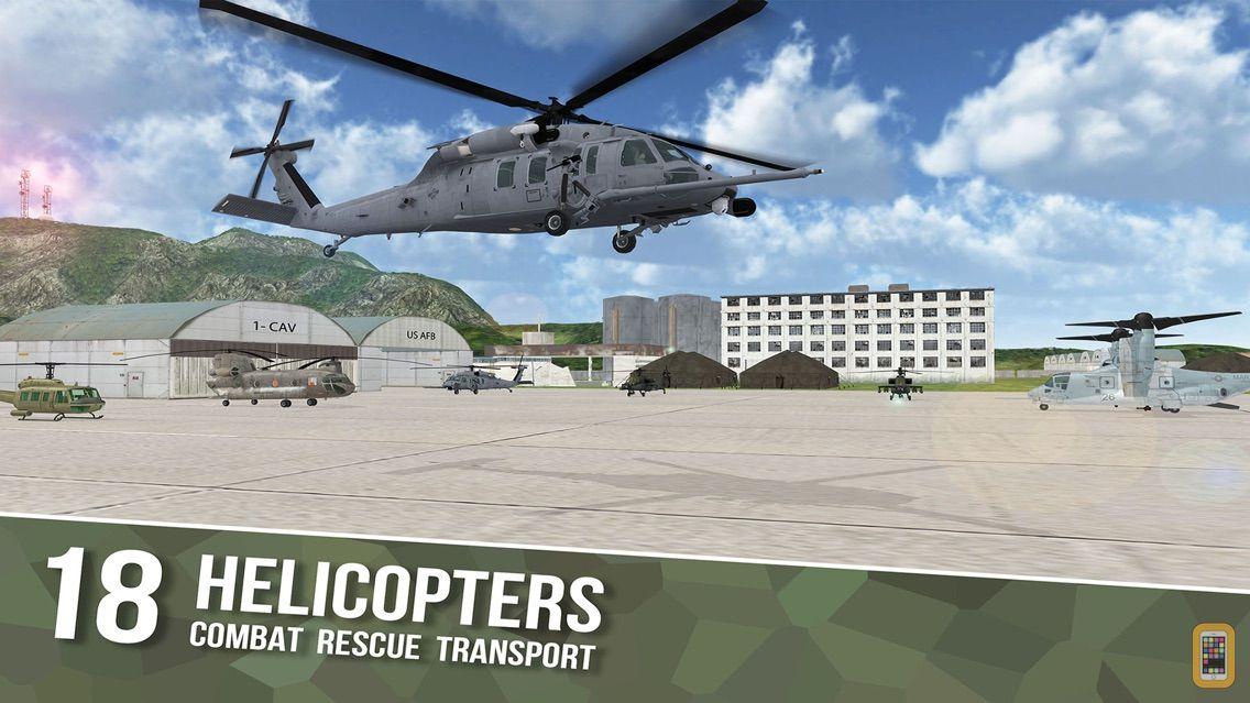 Screenshot - Air Cavalry - Combat Flight Simulator of Infinite Sky Hunter Gunships and Carrier Ops
