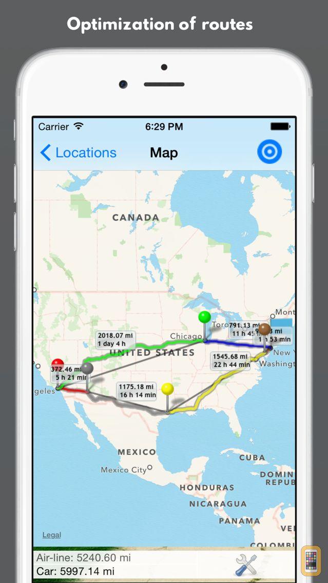 Screenshot - Best Route Optimizer Pro - Planning multiple stops