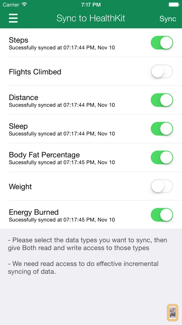 Screenshot - Data Manager for Fitbit