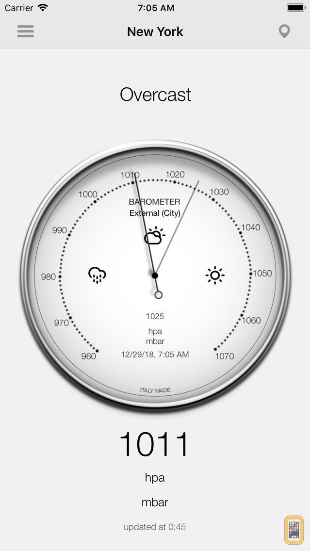Screenshot - Barometer-Atmospheric pressure