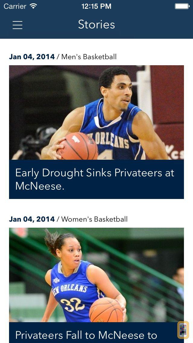 Screenshot - University of New Orleans Privateers