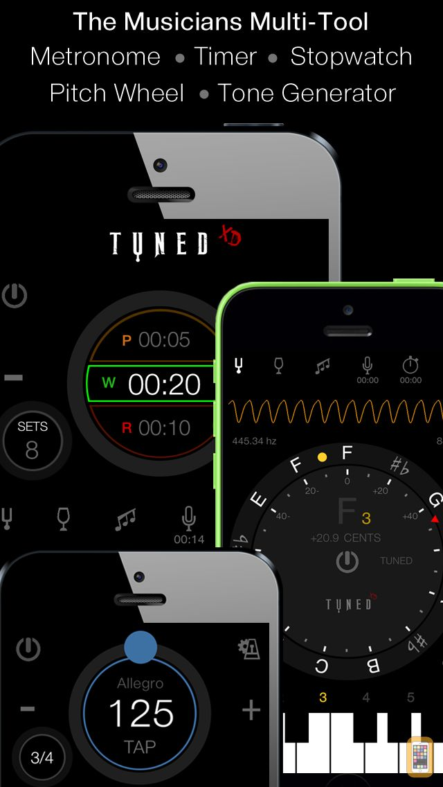Screenshot - Tuned XD - Singers & Guitarists Tuner + Multitool