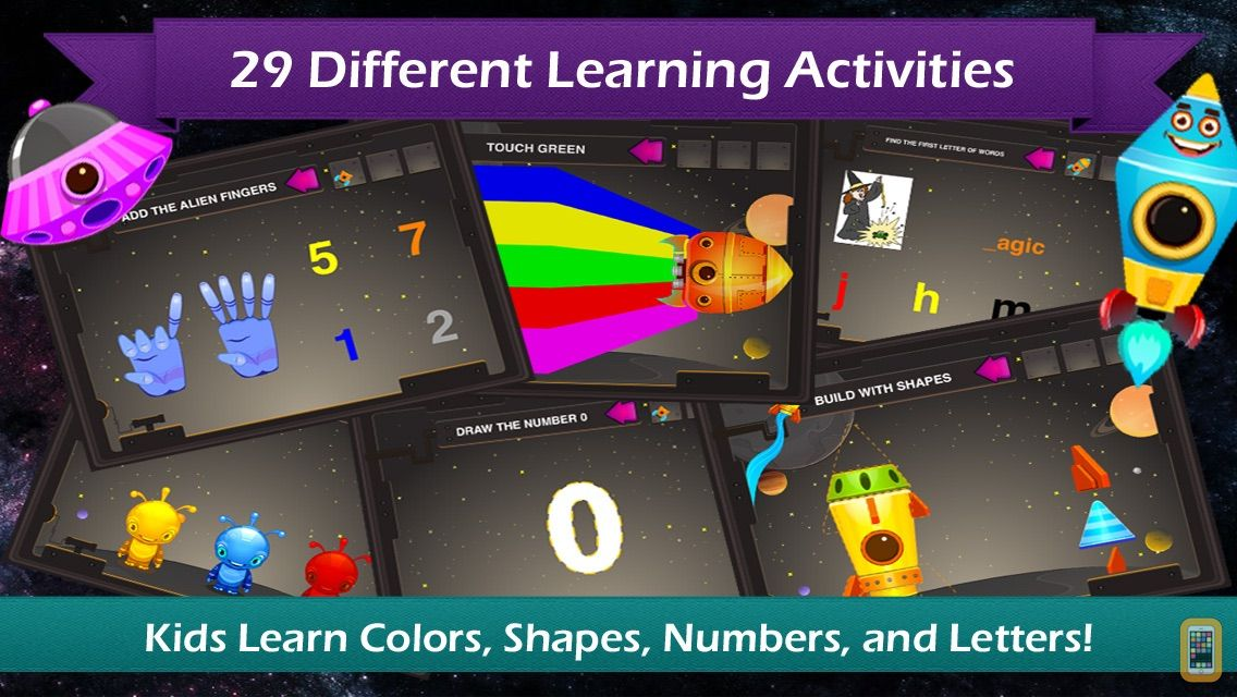 Screenshot - Preschool Galaxy - Learn Shapes, Colors, Numbers, and Letters