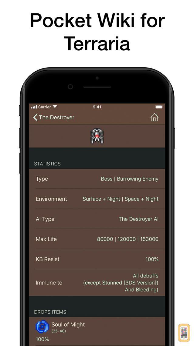 Screenshot - Pocket Wiki for Terraria