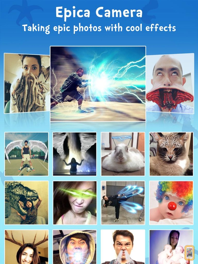 Screenshot - Epica HD - Epic camera and photo editor with funny poses for taking cool pictures