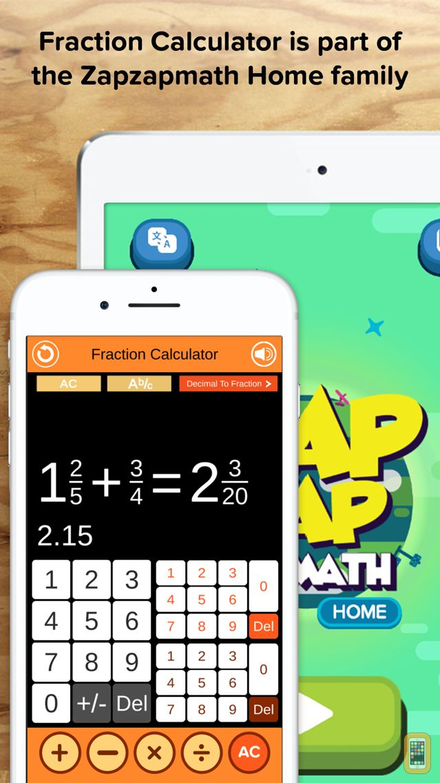 Screenshot - Fraction Calculator + Decimals