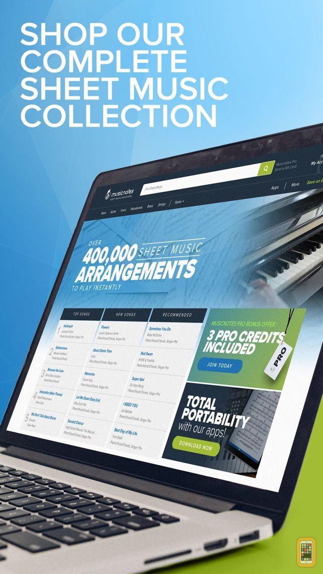 Screenshot - Musicnotes