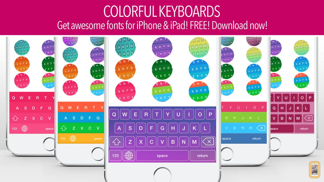 Screenshot - Color Keyboard ~ Cool New Keyboards & Free Fonts for iOS 8