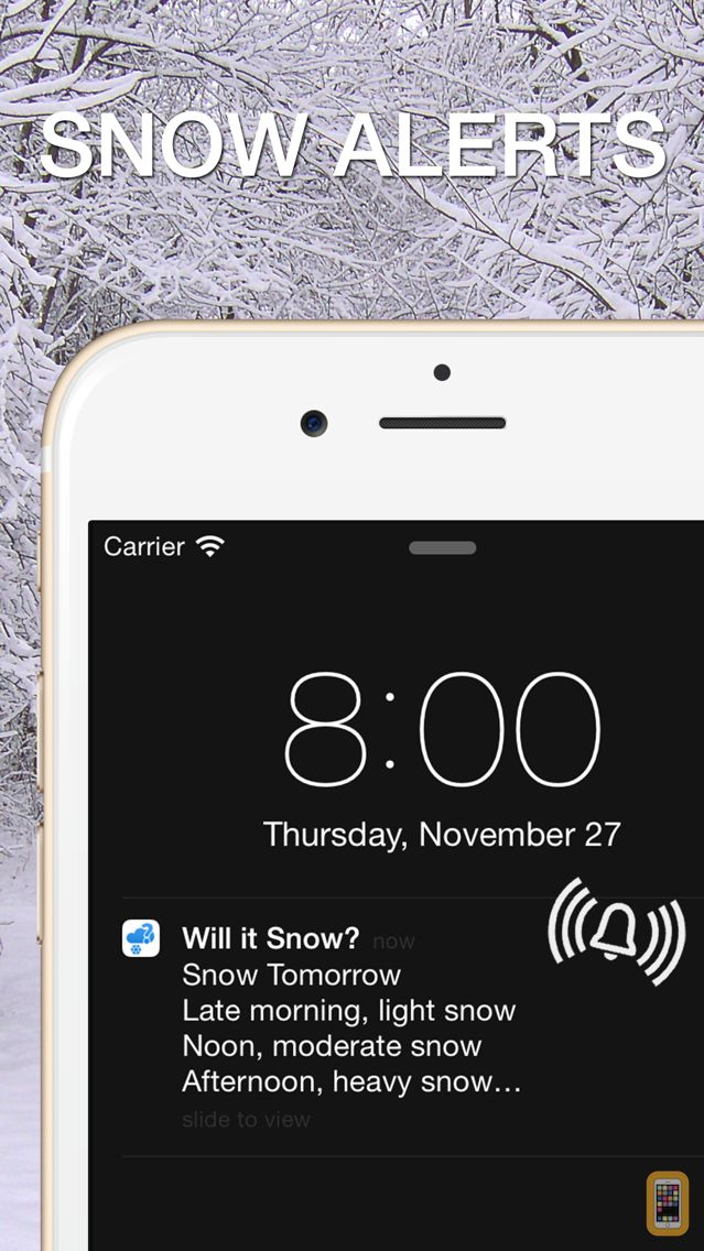 Screenshot - Will it Snow? [Pro] - Snow condition and weather forecast alerts and notification