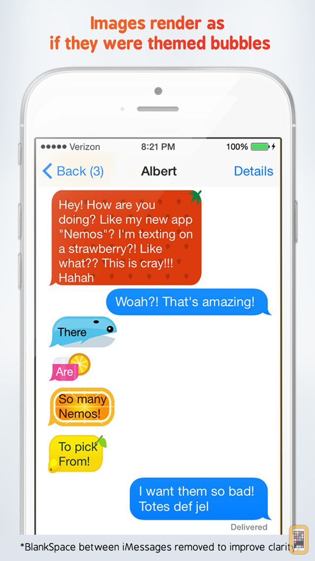 Screenshot - Nemos - Themed Bubble Image Designer for iMessages