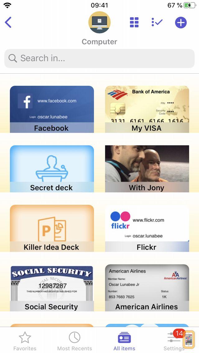 Screenshot - oneSafe 4 password manager