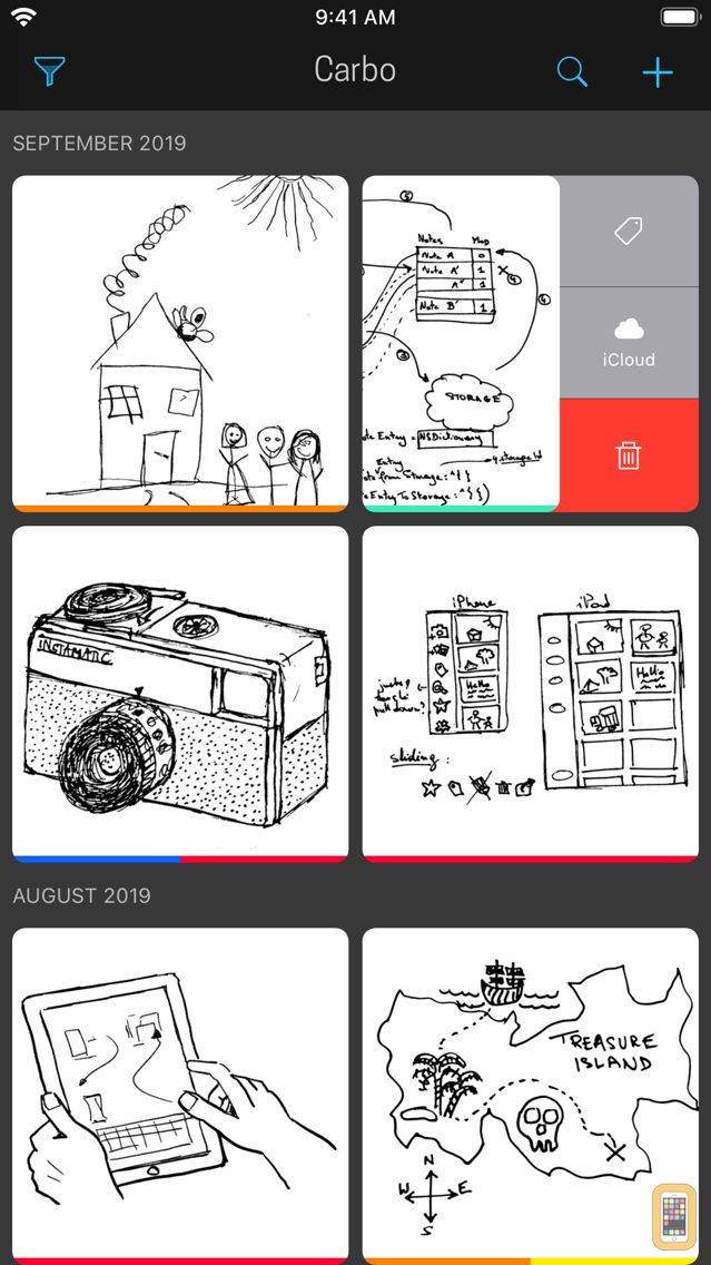 Screenshot - Carbo - Notes & Sketches