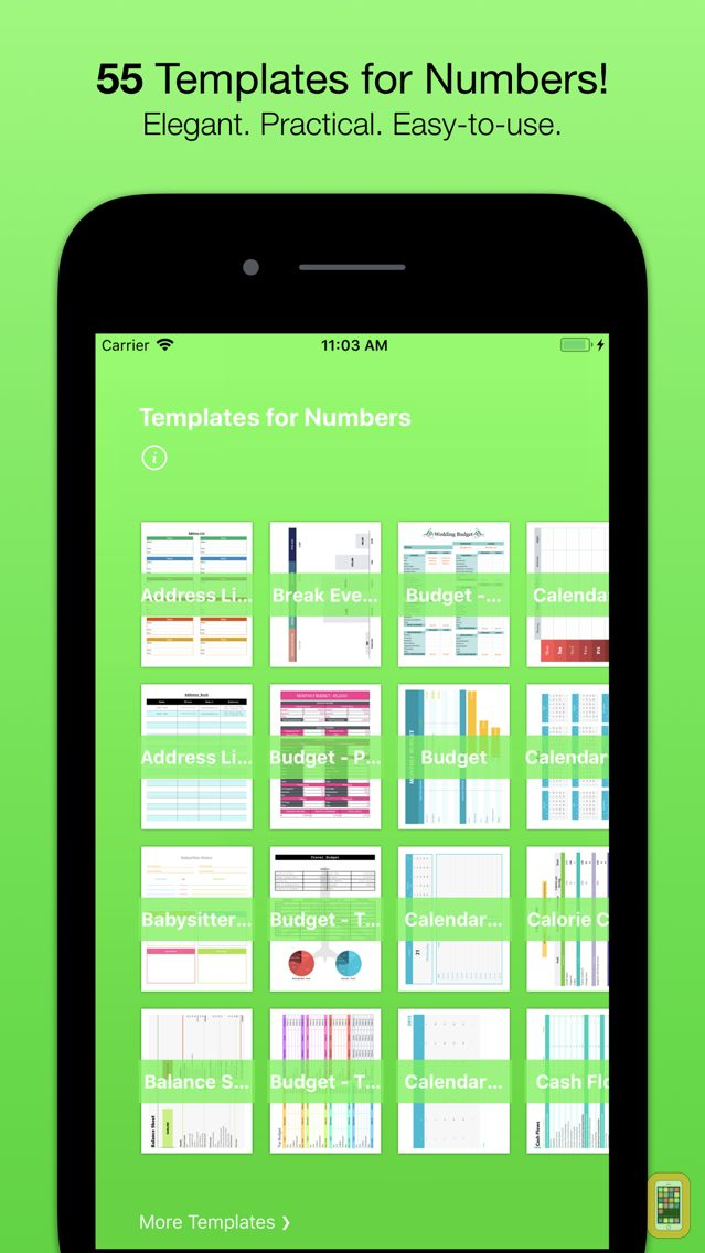 Screenshot - Templates for Numbers (Nobody)